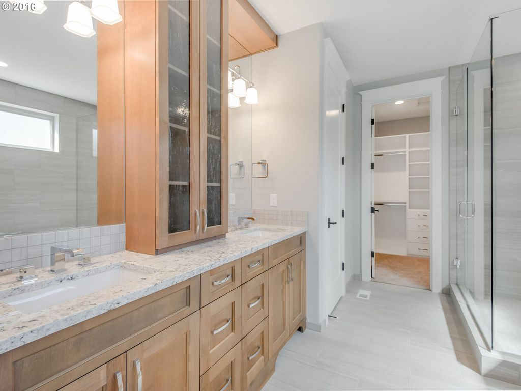 Luxury Home Remodel with white granite counter tops