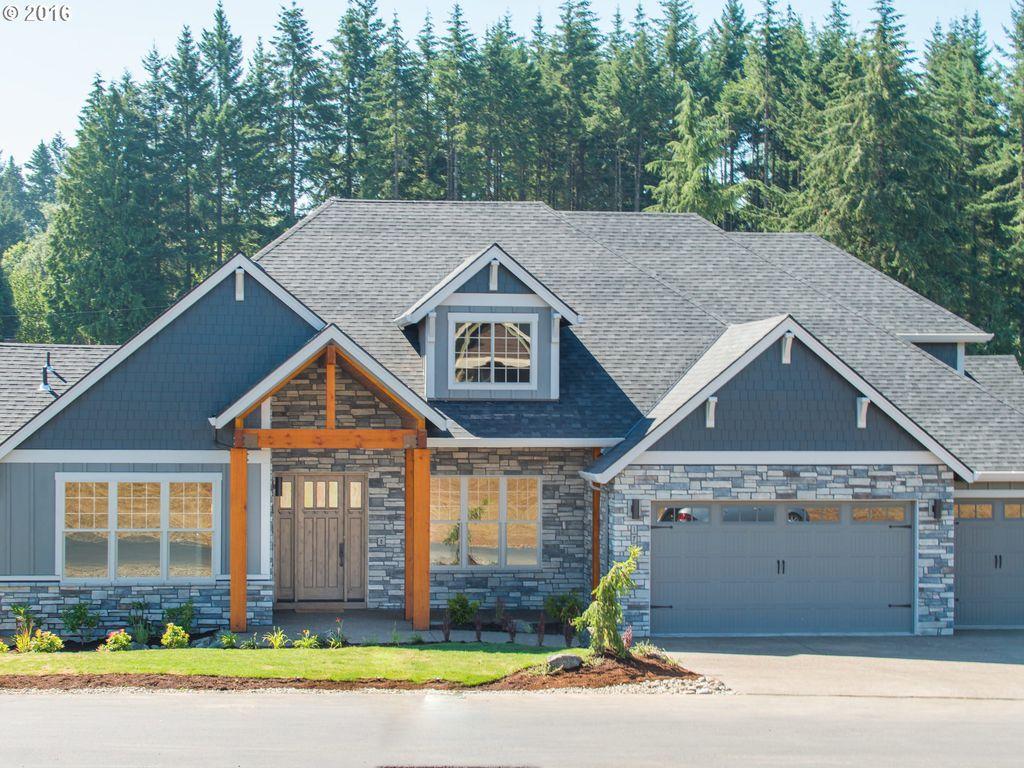 Custom Built Home with rock face General Contractor Portland Oregon