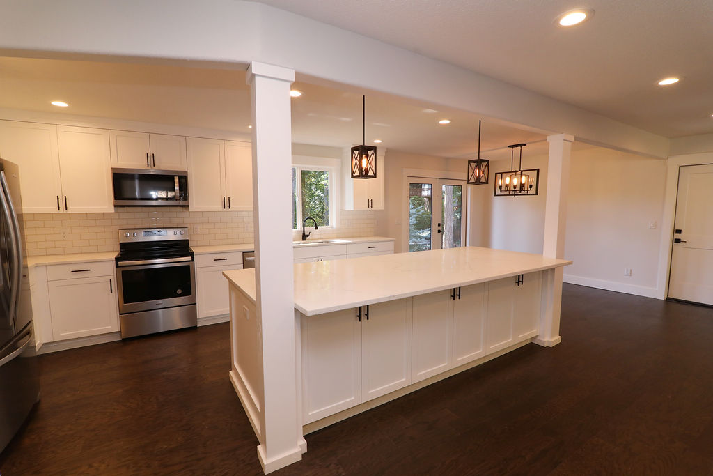 Open Concept Kitchen with large Island