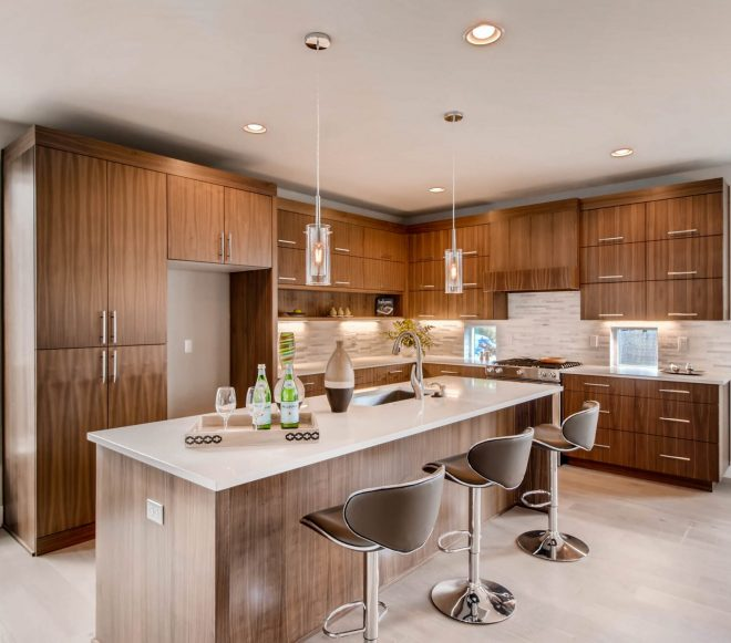 Open concept kitchen remodel with sizable island