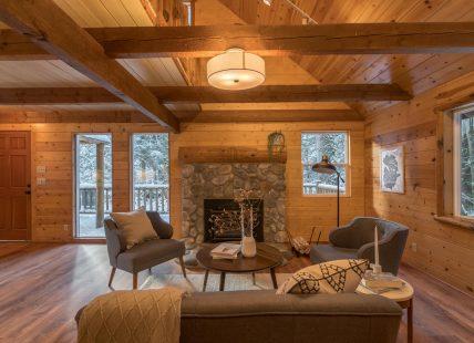 log cabin retreat near portland