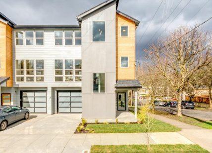modern duplex exterior view in portland