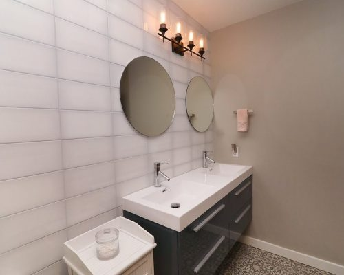 Master bathroom in a custom, modern full-home remodel