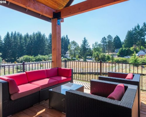 modern ranch outdoor seating area