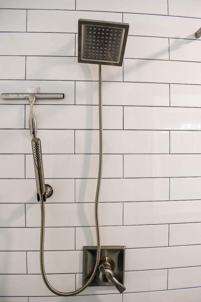 rain shower in remodeled bathroom