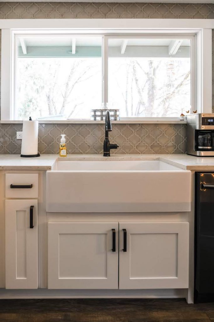 new sink in a remodeled kitchen