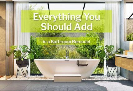 Bathroom remodel with sun deck and modern fixtures